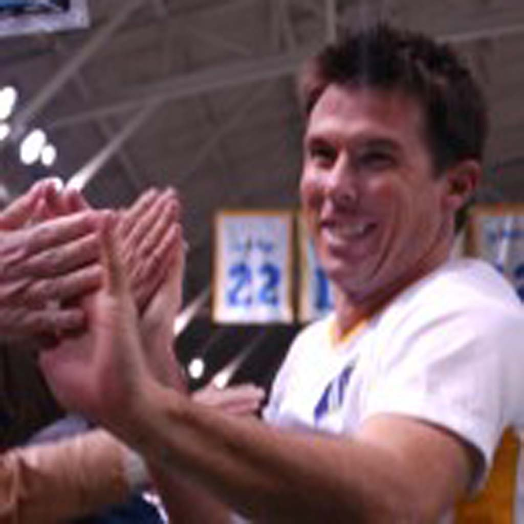 Sockers co-captain Nate Hetherington gives fans high-fives following the win. Photo by Tony Cagala