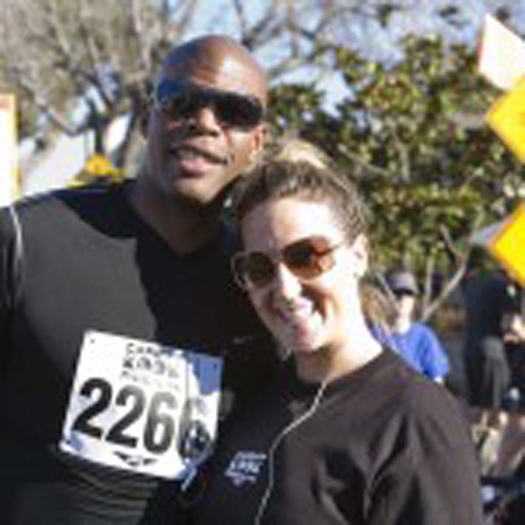 Former NBA player Levy Middlebrooks and Cardiff resident Heidi Lebherz. Photo by Daniel Knighton