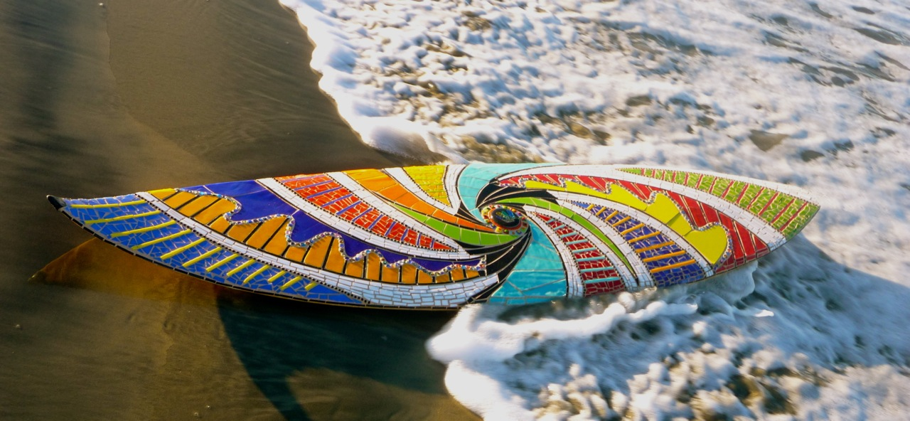 Old surfboards get new lives as mosaics