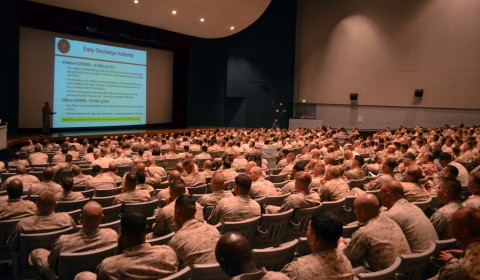 Camp Pendleton Marines briefed on upcoming drawdown