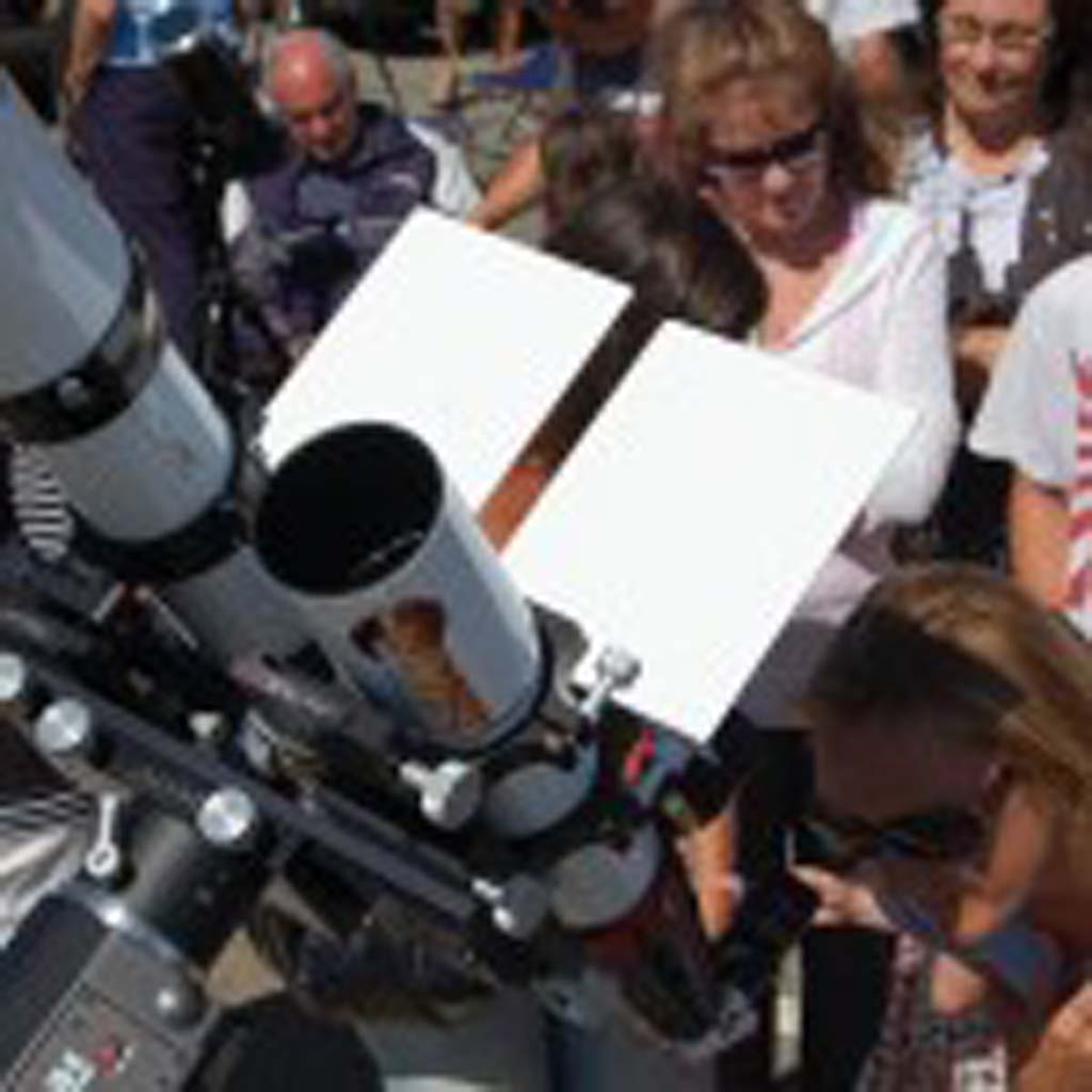 Crowds turn out for the once-in-a-lifetime viewing of the Venus transit. Photo by Tony Cagala