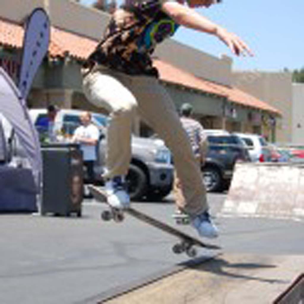 Brendon Villanueva, a K5 sponsored skateboarder competes in the 2012 Game of Skate Saturday, taking first place in the 16 and over heat. Photo by Tony Cagala