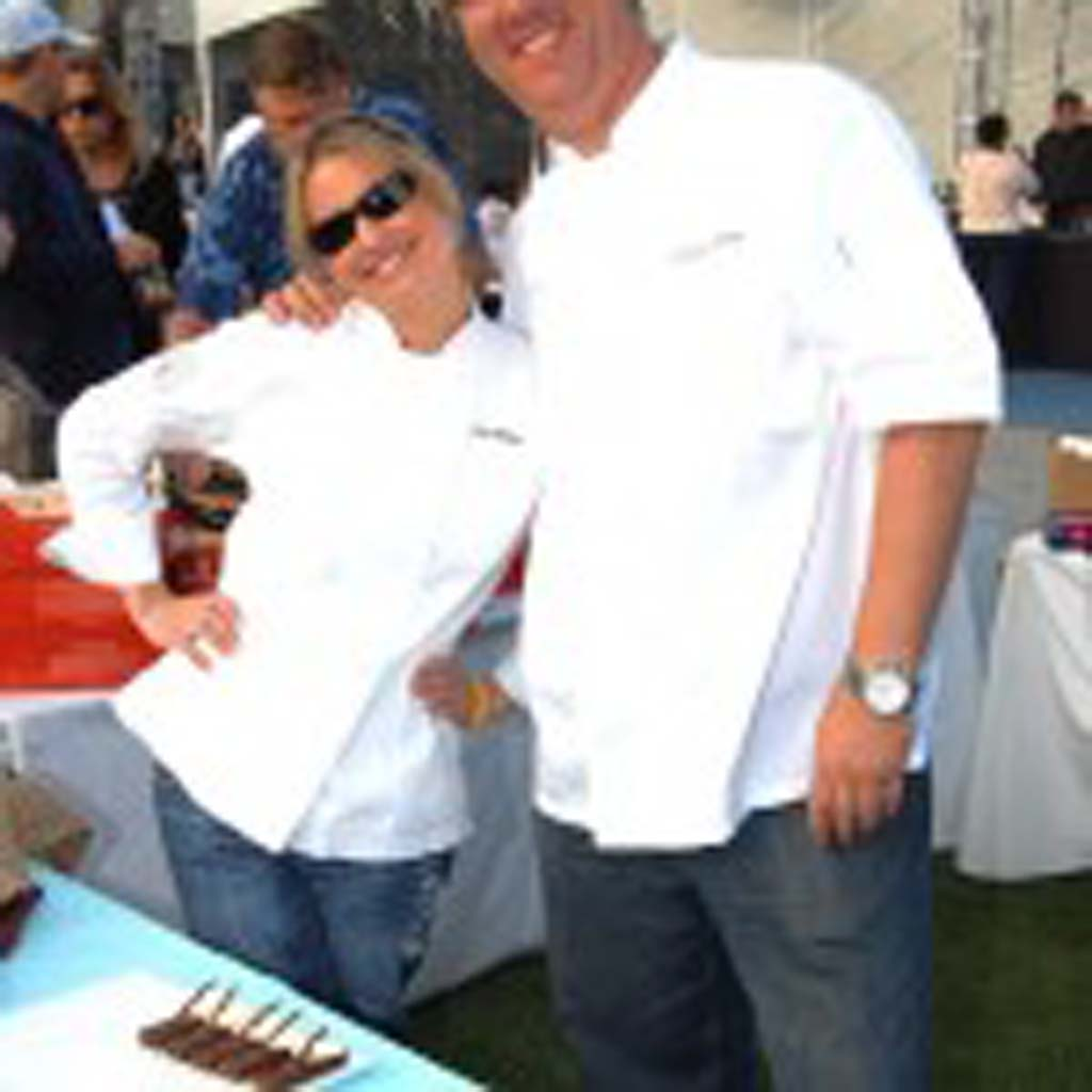 Pastry Chefs Lisa Bailey (left) and Keegan Gerhard, founders of D Bar San Diego, cater to those with a sweet tooth during the 11th annual Shoot to Cure HD fundraiser. Photo by Tony Cagala