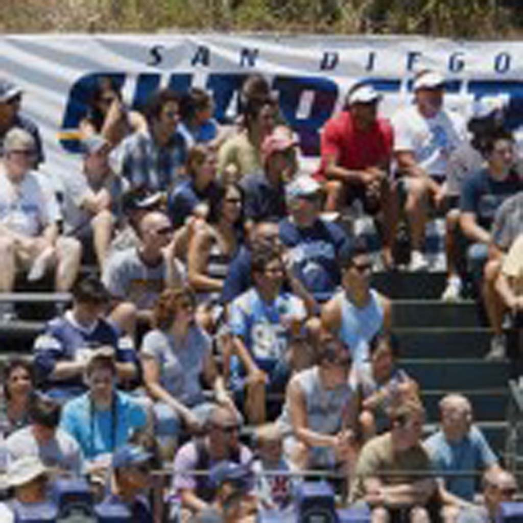 Crowds turn out in numbers to catch their first glimpse at the 2012 Chargers Sunday. Photo by Bill Reilly