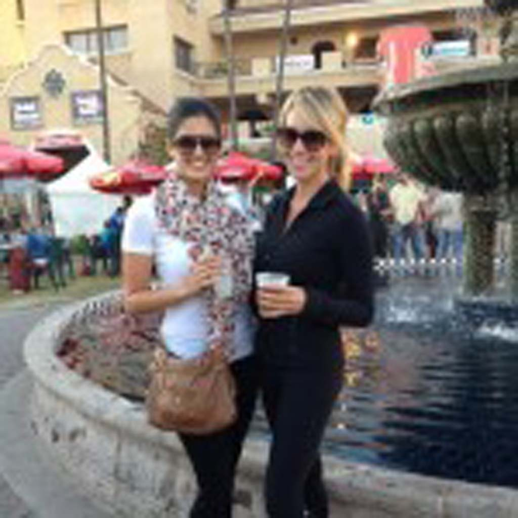 Priscilla Wood with her good friend Elise Muhawi at the San Diego Fair in Del Mar. courtesy photo