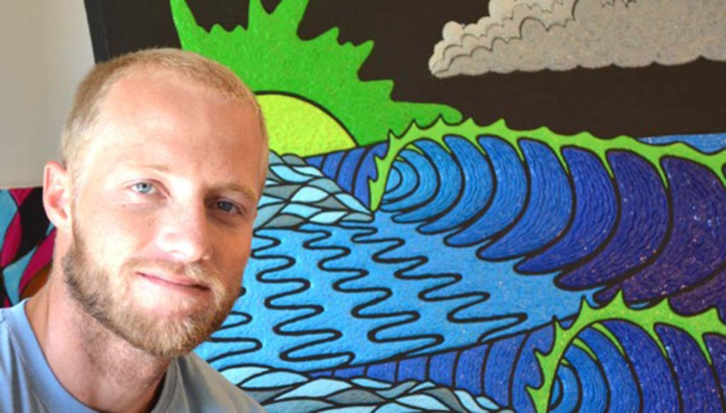 Artist draws on surfing for inspiration, technique