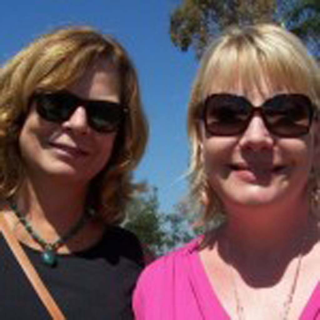 Michele Brown and Claudine Van Gonka represent the San Diego Blood Bank at the event. Photo by Patty McCormac