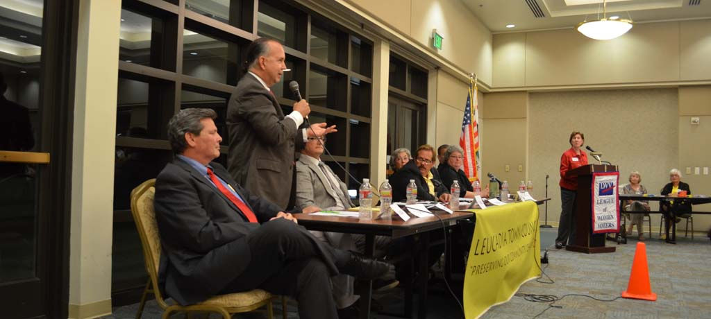 Council candidates make their case to large crowd