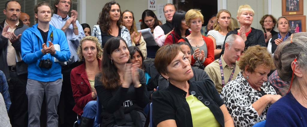 Parents weigh in on yoga program at school board meeting