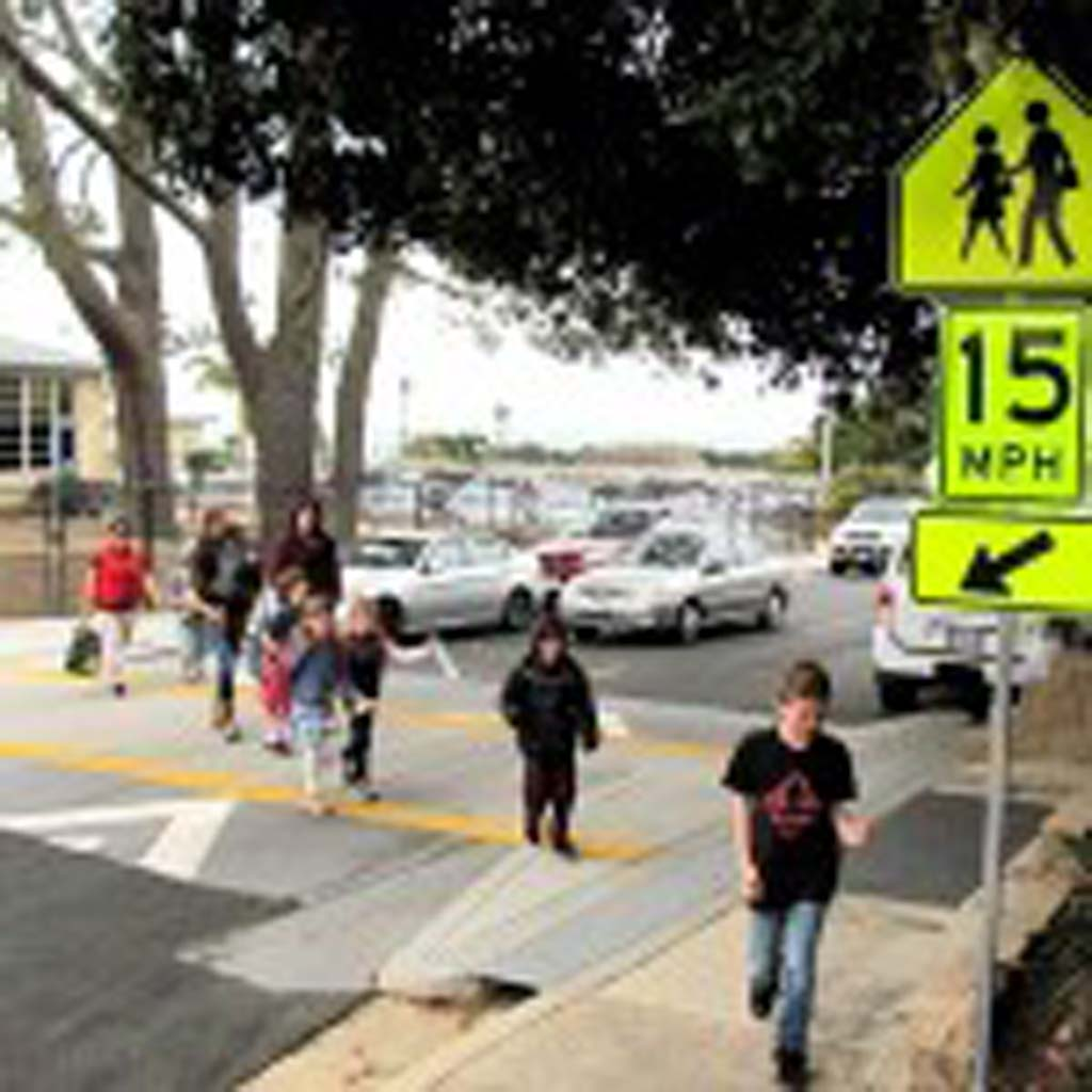 Students will get safer paths to school as part of improvements near Flora Vista Elementary School in Encinitas, thanks to Gardendale Road Traffic Calming and Safe Routes to School improvements approved by the Encinitas City Council. Courtesy photo