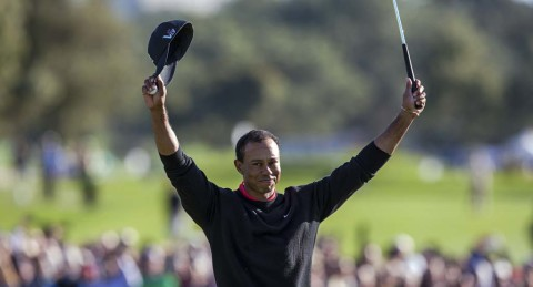 Tiger wins, makes history