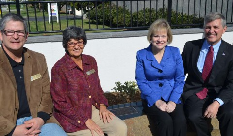 Officials unveil bench in late-Councilwoman's name