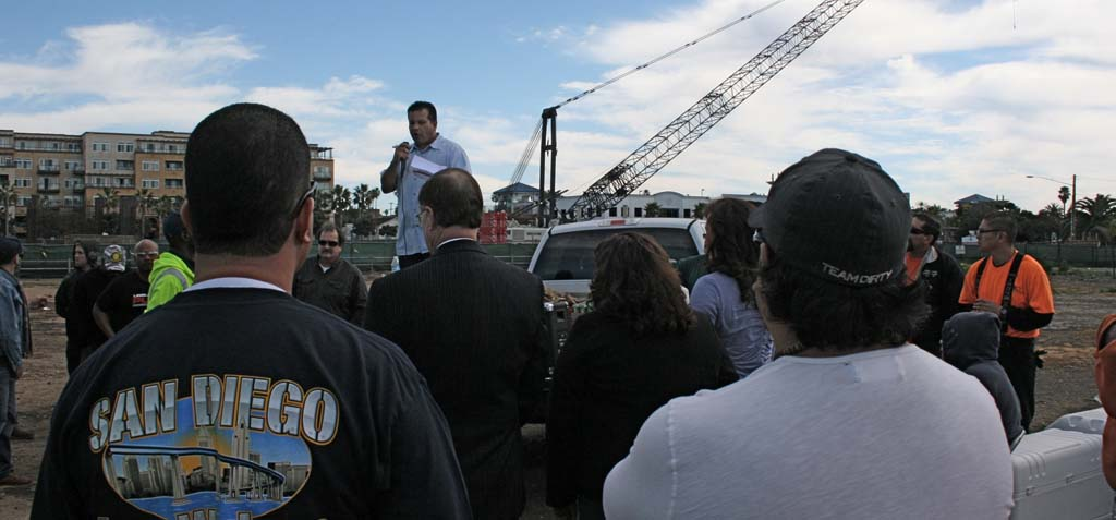 Ironworkers rally for rights over construction project