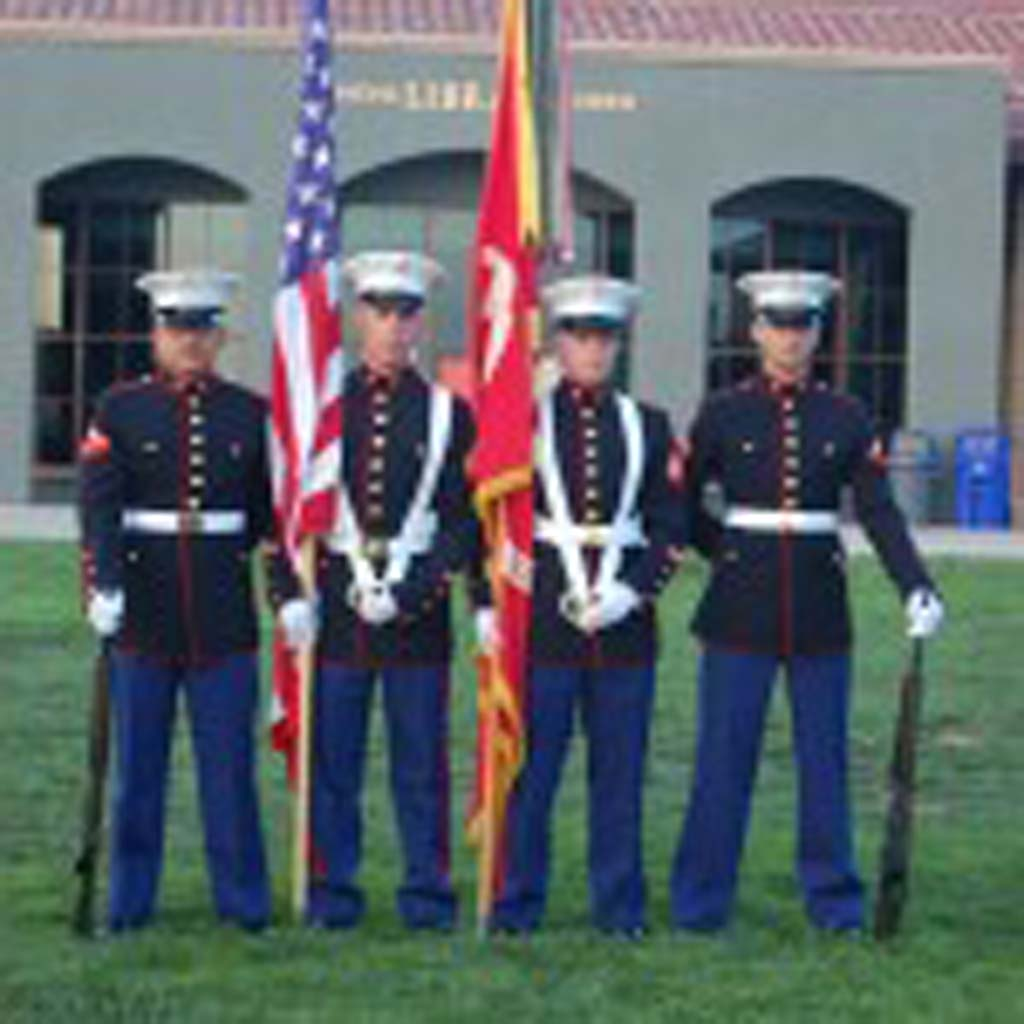 The Color Guard from Camp Pendleton is on hand for the Presentation of the Colors. Photo by Bianca Kaplanek