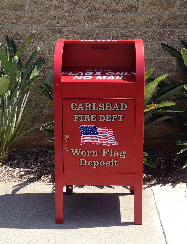 Carlsbad now offers a drop box to retire American flags at the Carlsbad City Library. 