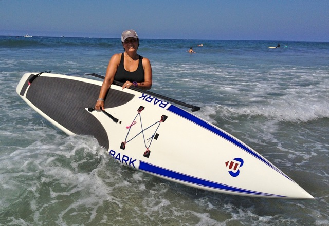 Ruth Monahan-Smith, a member of the SUP Chicks, is celebrating her second year as a breast cancer survivor, and has said the being on the water was therapeutic. Photo courtesy of Ruth Monahan-Smith