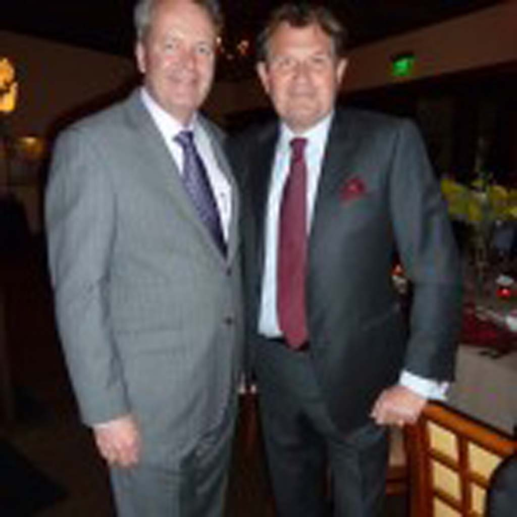 Tim Busch of Trinitas Family Wines and Marchesi Armando Fumanelli of Fumanelli Wines. Photo by Frank Mangio