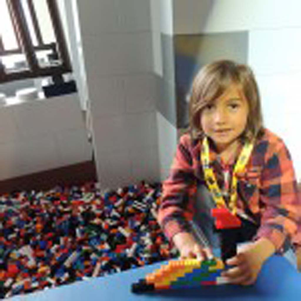 """The hotel is cool because it looks like it's built out of Legos,"" said five-year-old Jackson Barry from Solana Beach. Photo by Rachel Stine"