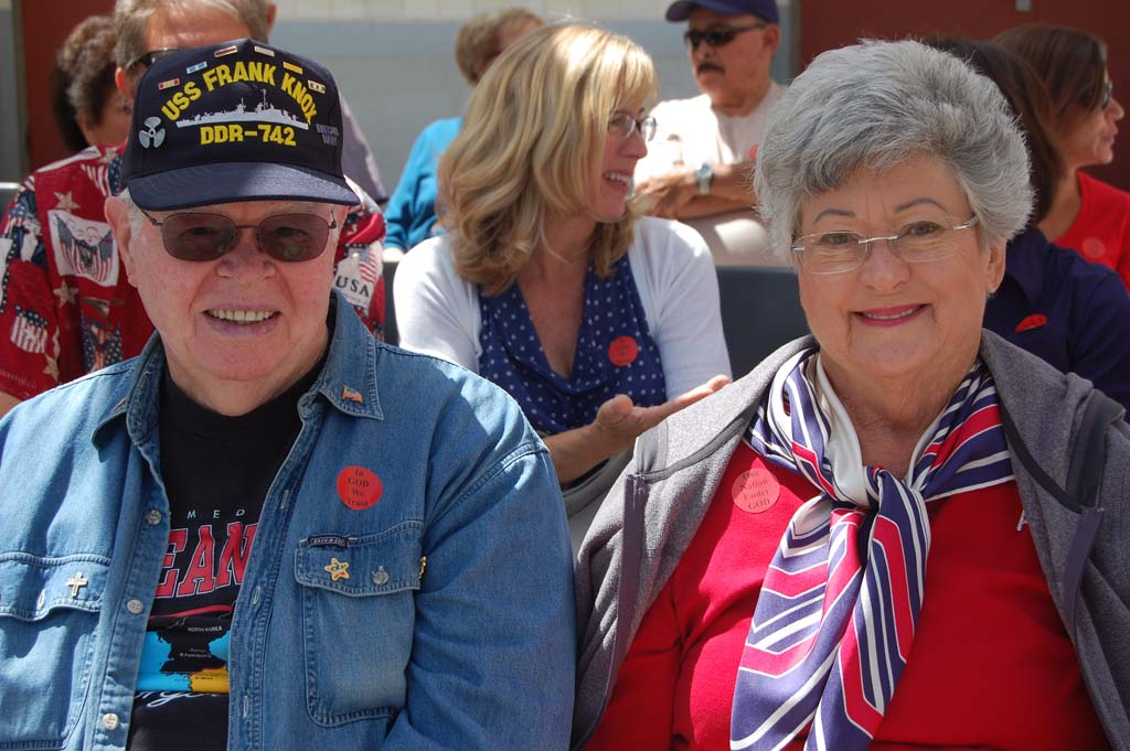 Jim Stark of Encinitas and Leucadia resident Ruth Ann Parker are among the more than 200 people at the annual event. Photo by Bianca Kaplanek