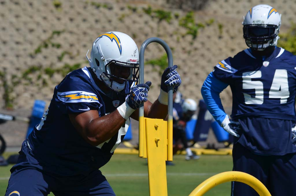 Te'o, Fluker run with the ones in OTAs