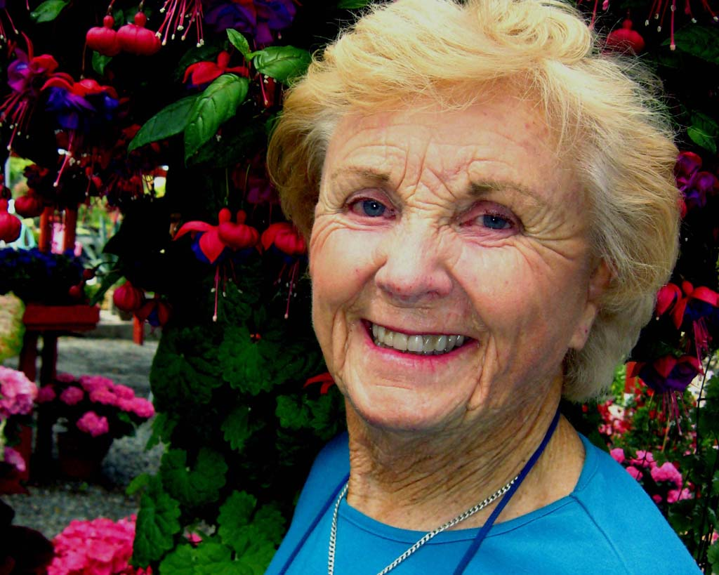 Evelyn Weidner has been the face of Weidner's Gardens for almost 50 years, giving tips through talks at the gardens and at the San Diego County Fair each year. When she sold the business in January to long-time employees Kalim Owens and Oliver Storm, they asked her to stay on. Photo by Lillian Cox