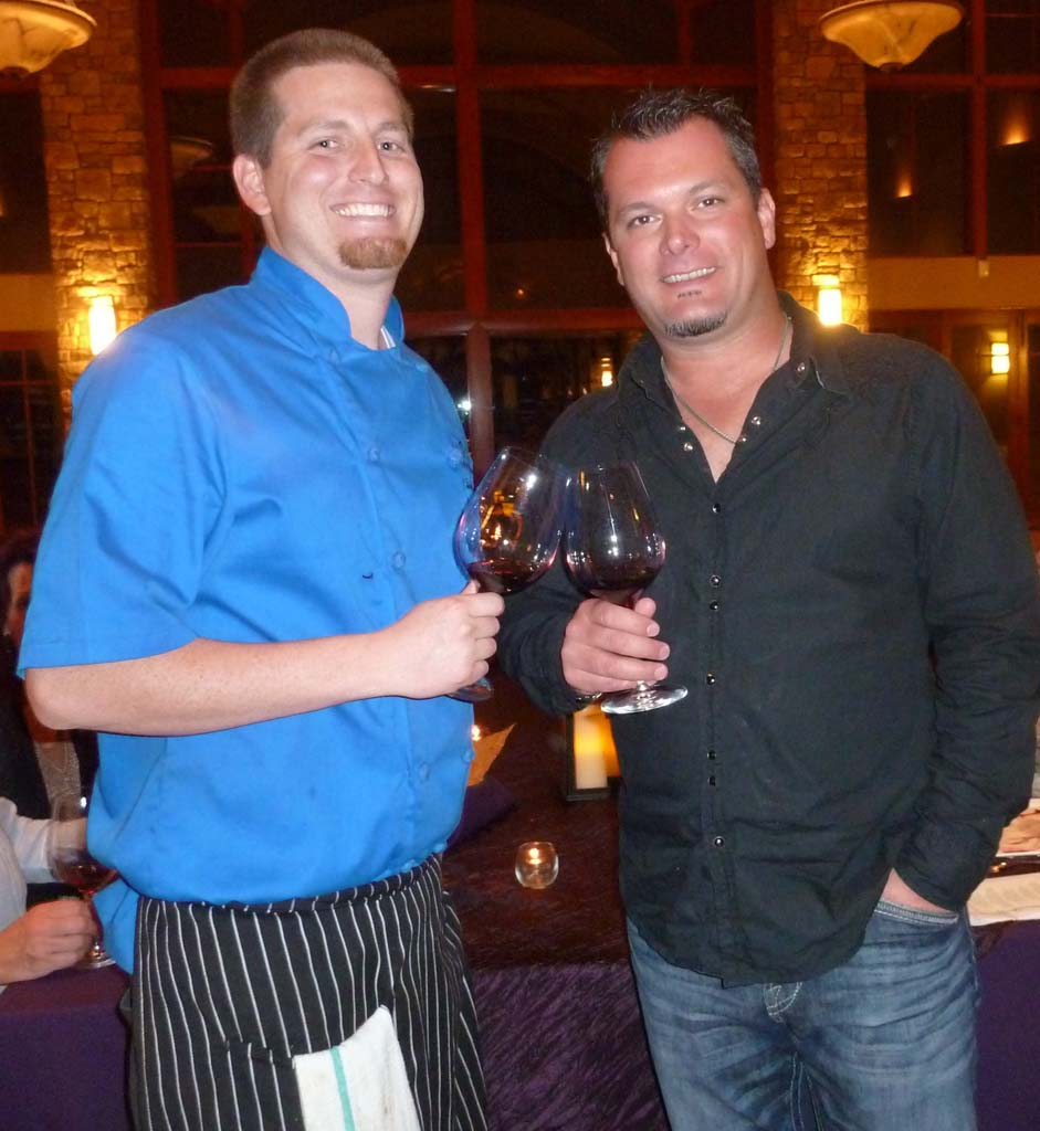 Temecula's Monte de Oro Executive Chef Taylor Harris and Winemaker Tim Kramer at a recent Winemakers Dinner. Courtesy photo