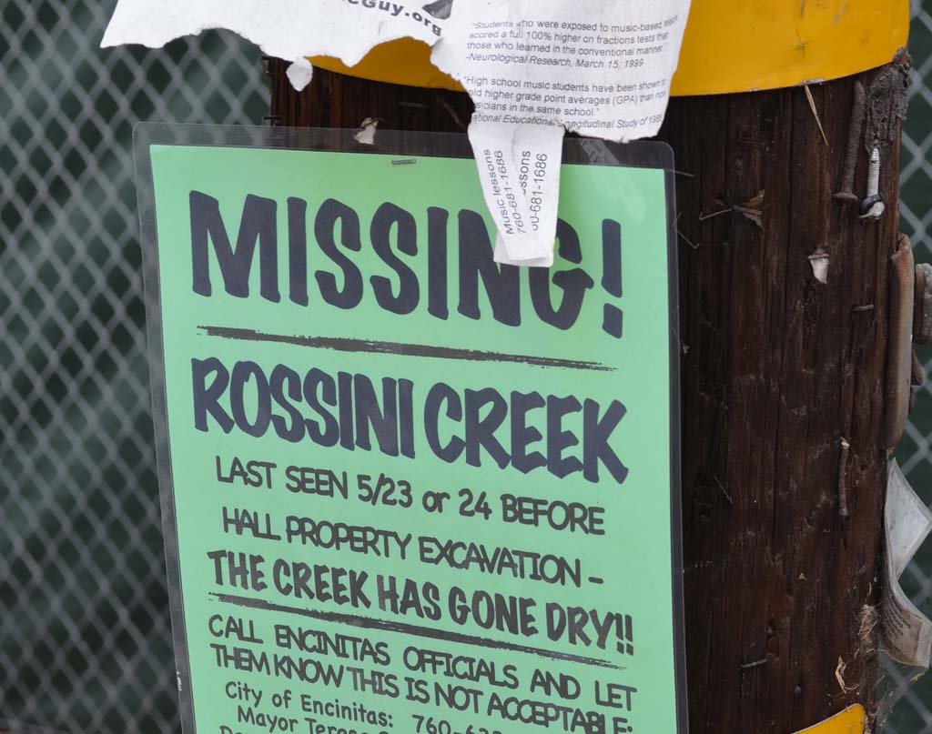 City states construction isn't impacting flow of Rossini Creek