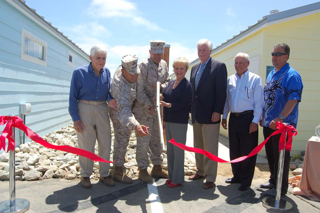 Marines dedicate cottages