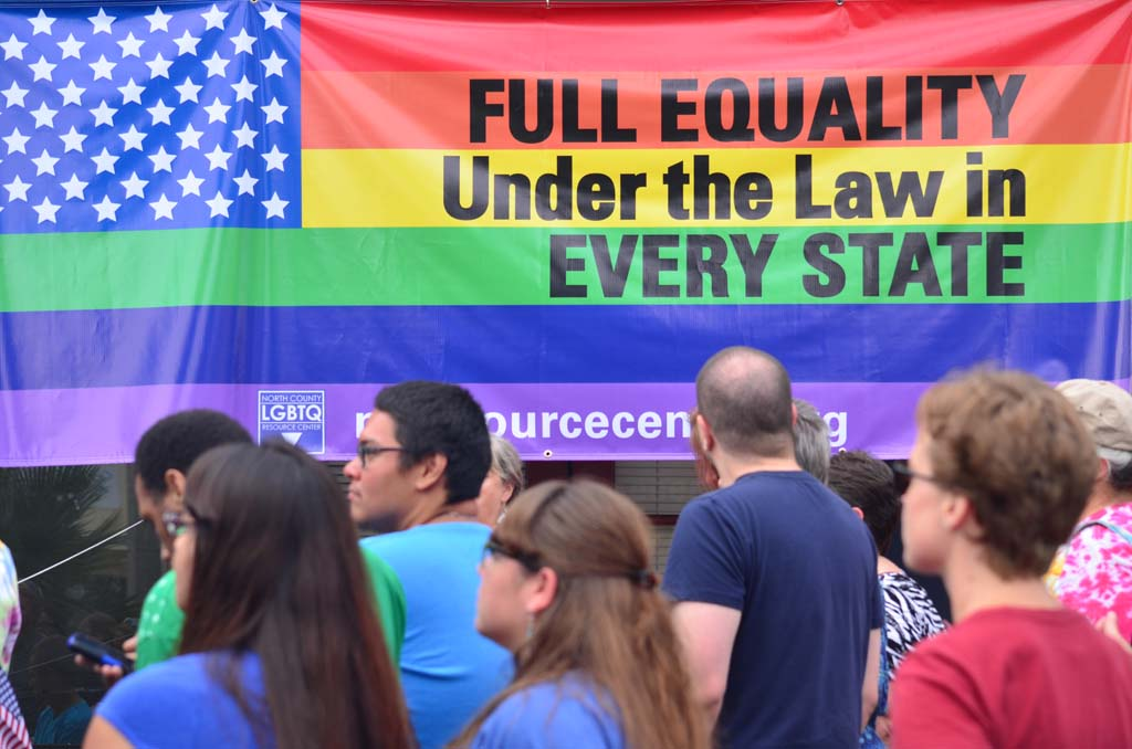 Crowds turn out in support of same-sex marriage equality. Photo by Tony Cagala