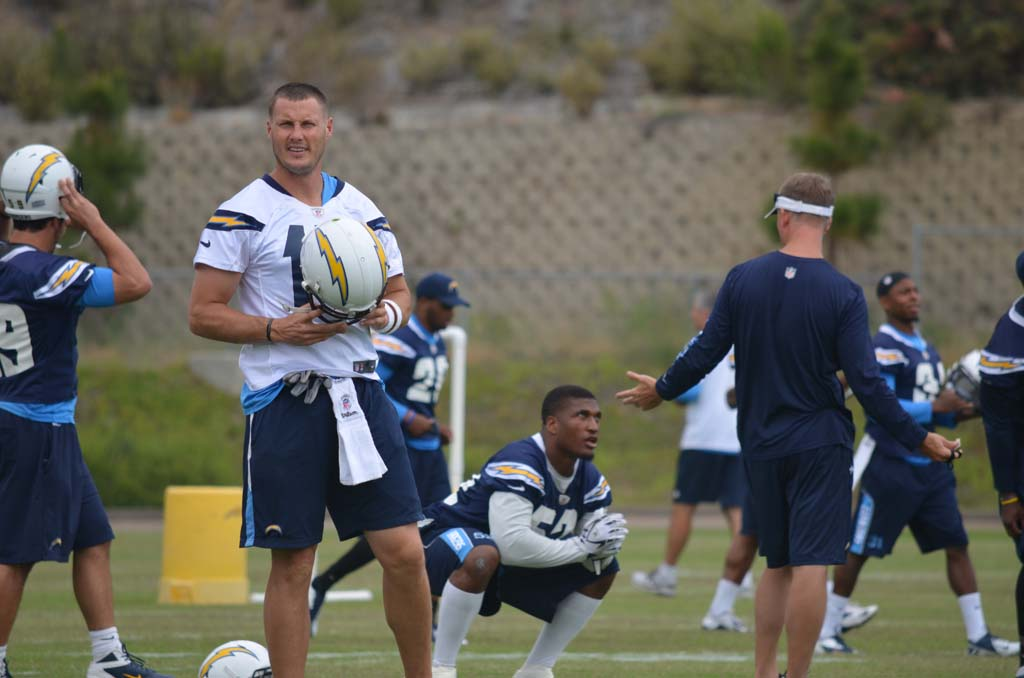 Philip Rivers gets ready for another day of OTAs Monday. The team will break this week before starting training camp later this month. Photo by Tony Cagala