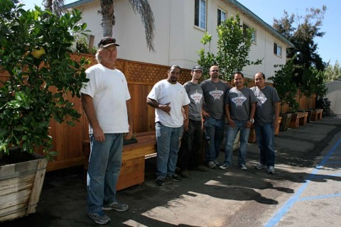 Volunteers spruce up veterans quarters