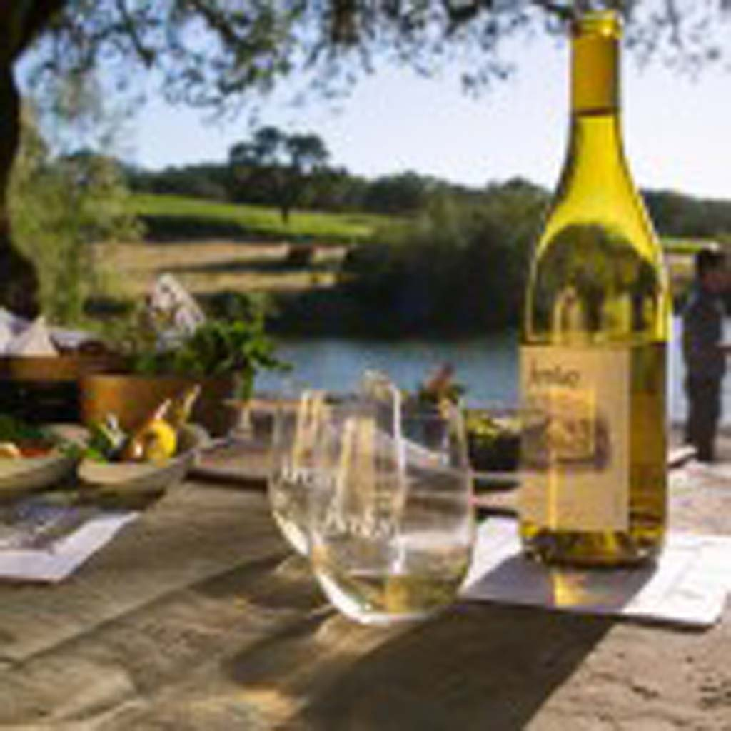 The grand French chateau of Jordan Wine Estate in the Alexander Valley of Sonoma includes two lakes on 1,200 acres.