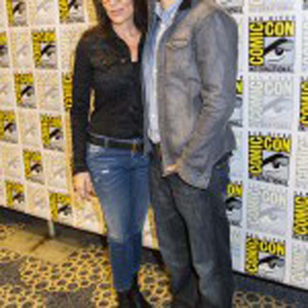 "Actors Katey Sagal and Charlie Hunnam (""Sons of Anarchy"") appear at Comic-Con on Sunday. Photo by Daniel Knighton"