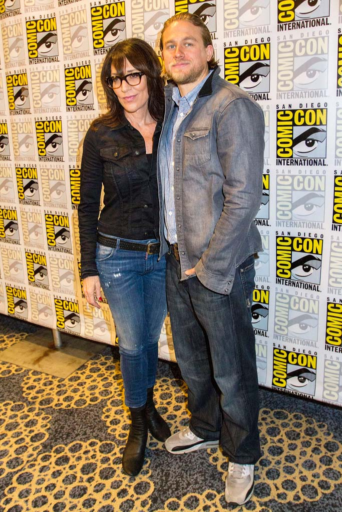 """Actors Katey Sagal and Charlie Hunnam (""""Sons of Anarchy"""") appear at Comic-Con on Sunday. Photo by Daniel Knighton"""