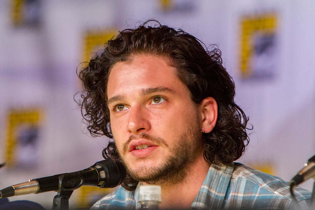 """Actor Kit Harington, """"Game of Thrones"""" talks to fans at Entertainment Weekly's Brave New Warriors panel at Comic-Con on Thursday. Photo by Daniel Knighton"""