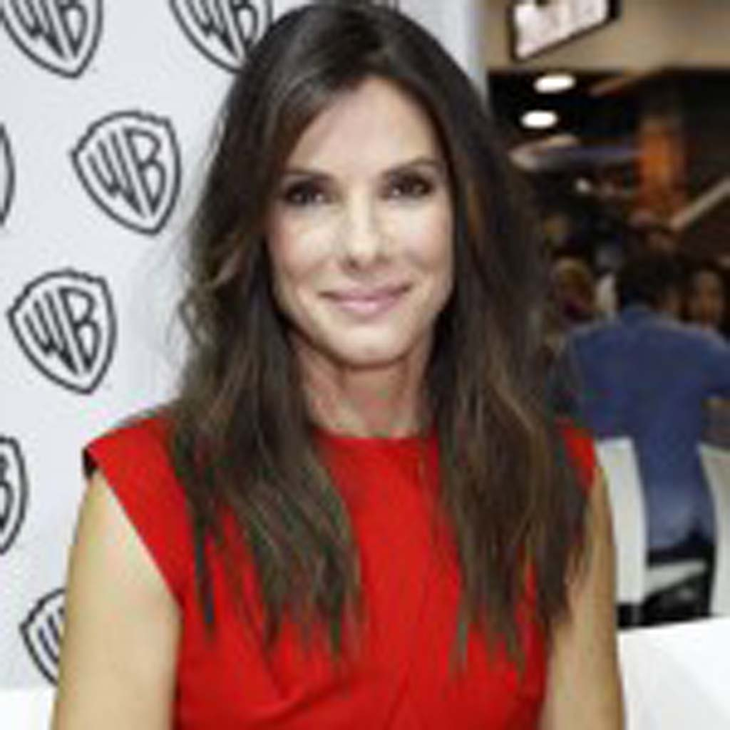"Actress Sandra Bullock appears at Comic-Con to promote her upcoming film ""Gravity."" Photo by Daniel Knighton"