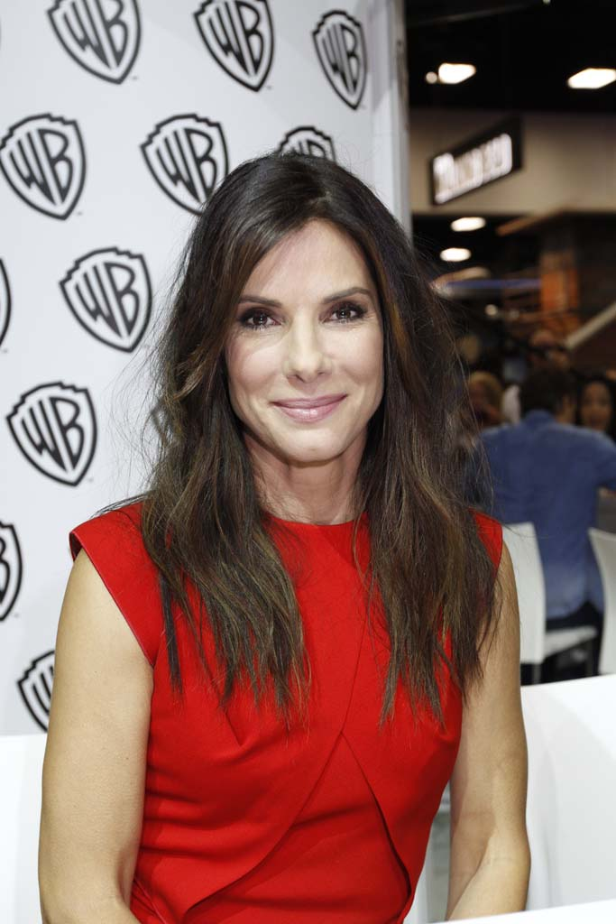 """Actress Sandra Bullock appears at Comic-Con to promote her upcoming film """"Gravity."""" Photo by Daniel Knighton"""