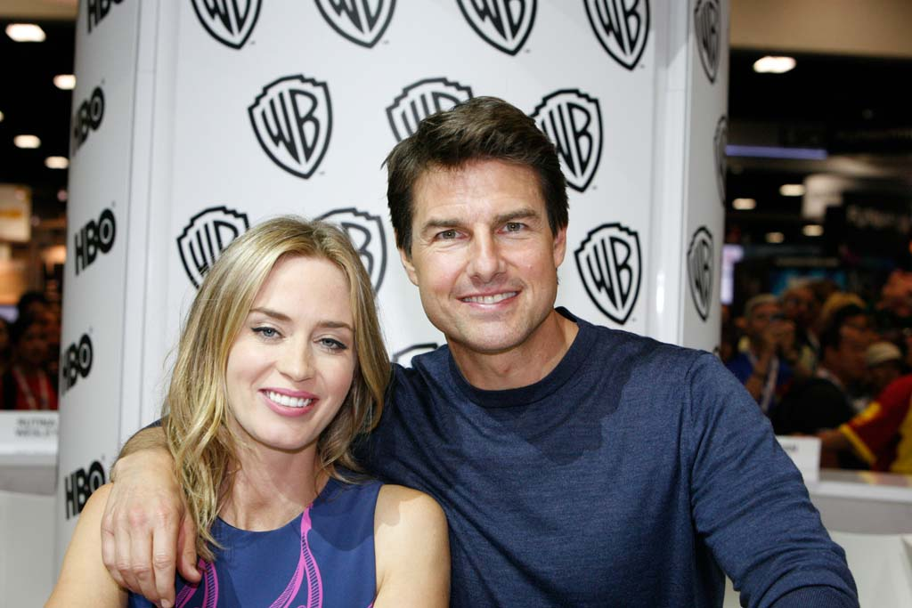 """Actors Tom Cruise and Emily Blunt appear at an autograph session to promote their upcoming movie """"Edge of Tomorrow."""" Photo by Daniel Knighton"""
