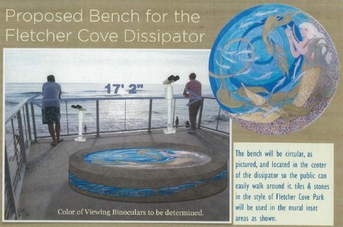 City OKs bench, binoculars for Fletcher Cove outlook