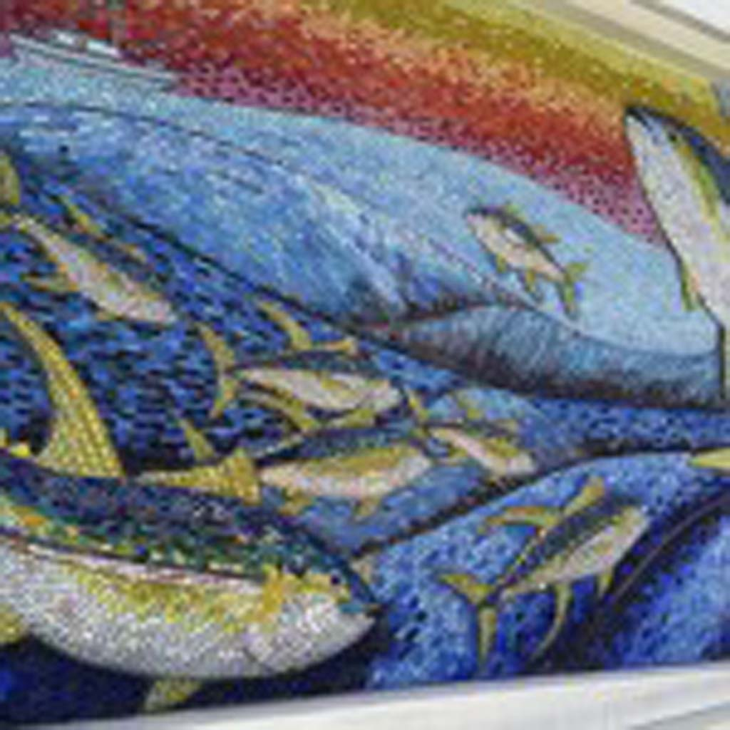 This exquisite mosaic has been installed across from the Northgate Market (1950 Main St.). [Photo by E'Louise Ondash]