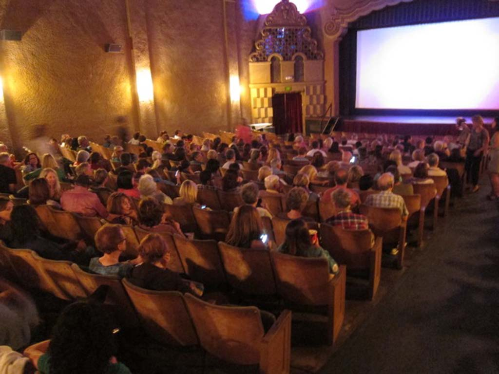 """More than 230 """"Italophiles"""" gathered at La Paloma Theater for the Italian Film Festival's July 11 screening of """"Rosso Come il Cielo."""" Courtesy photo"""