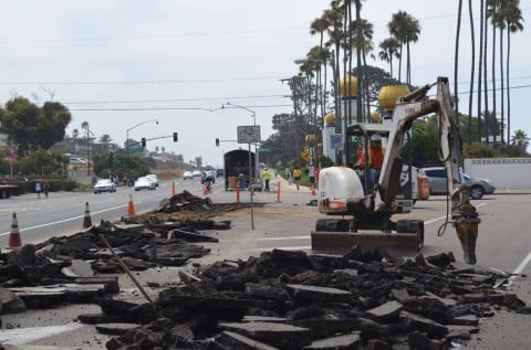 Work begins on K Street landscape