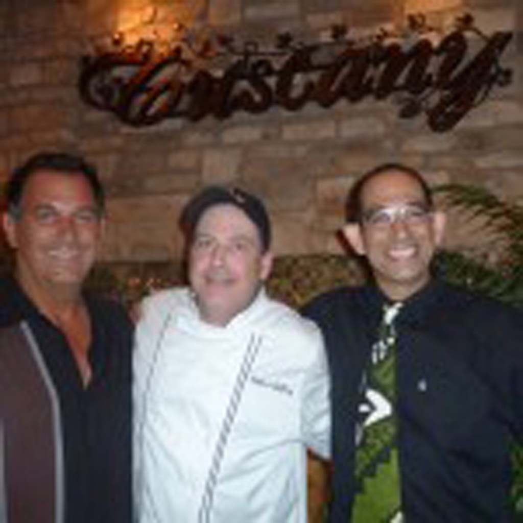 From left: Tuscany owner Joey Alfano, Executive Chef Robert Gaffney and Howie Ovedia, celebrity bartender.