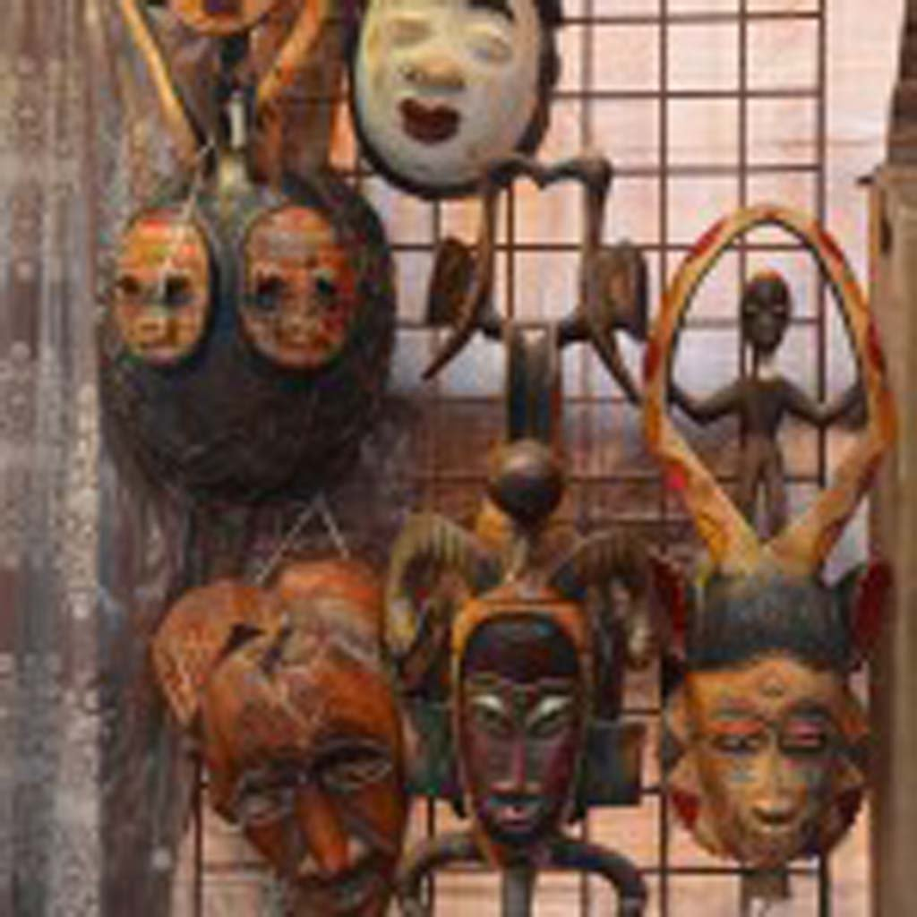 Masks from various African countries are just a few of the many treasures and artifacts that are part of the African Museum in Old Town. (Photo by Jerry Ondash)