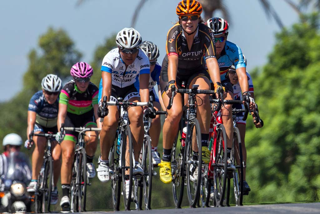 Riders in the Carlsbad Grand Prix cycled through Armada Drive and Fleet Street. Photo by Bill Reilly