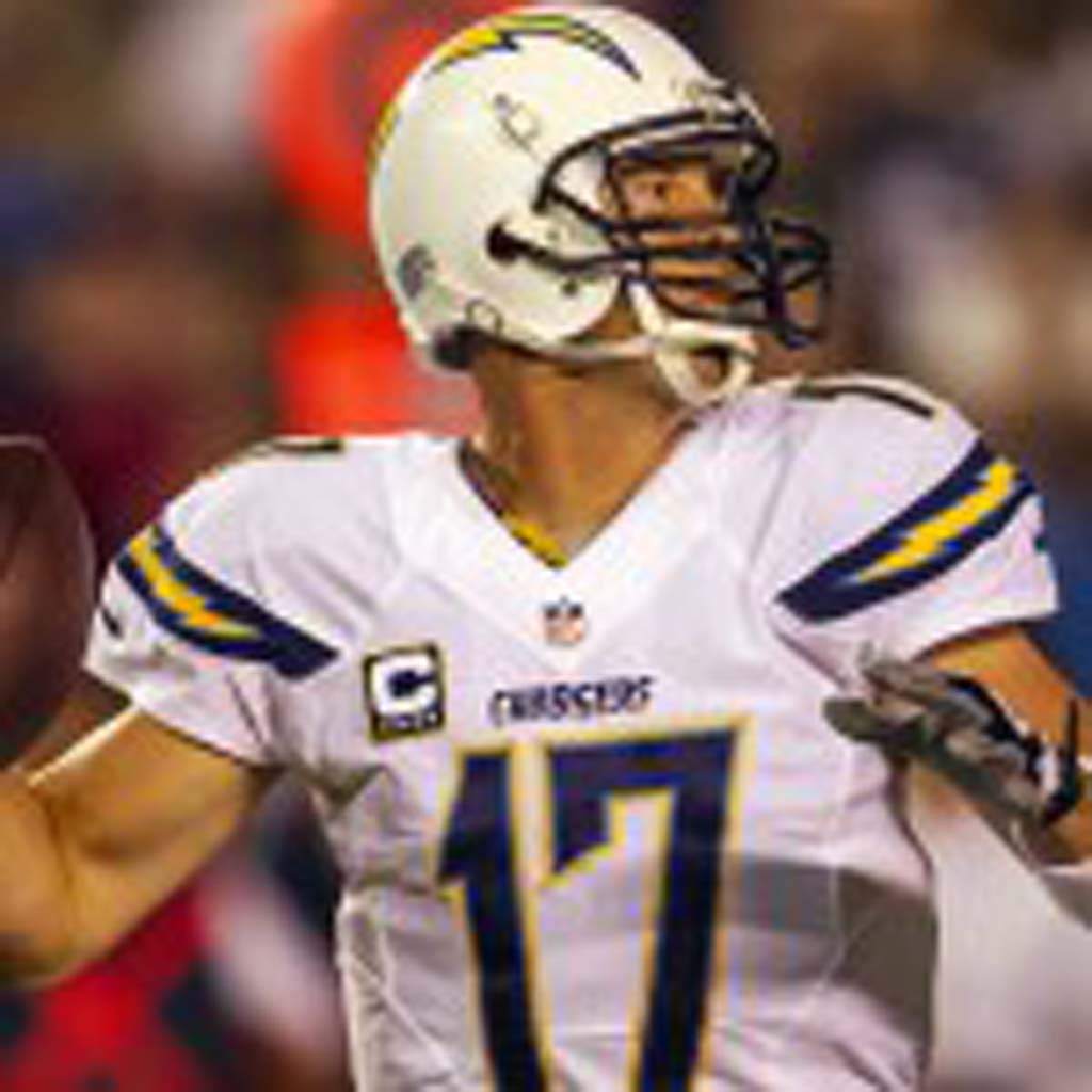 San Diego Chargers quarterback Philip Rivers throws a pass in the second quarter. Photo by Bill Reilly
