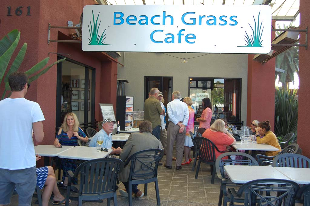 About two dozen people gathered at Beach Grass Café on Sept. 4 to honor those who helped kick-start the Coast Highway 101 improvement project nearly two decades ago, including late architect Steve Adams. Photo by Bianca Kaplanek