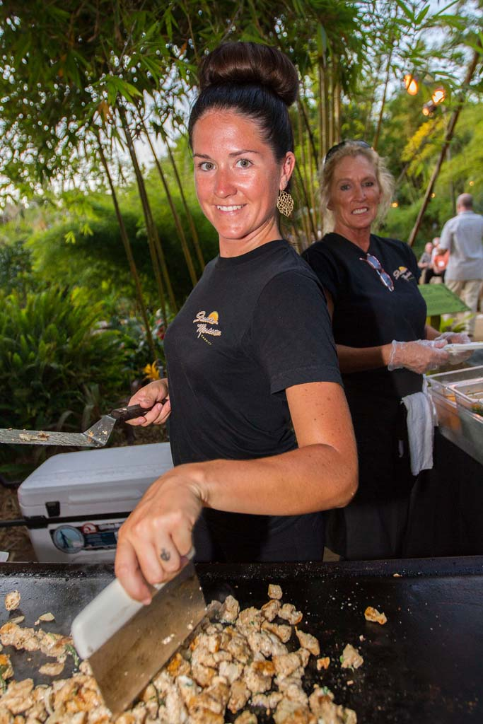 Cardiff resident Bianca Johnson cooks up some grilled Ono tacos for Seaside Market at the Gala in the Gardens. Photo by Daniel Knighton
