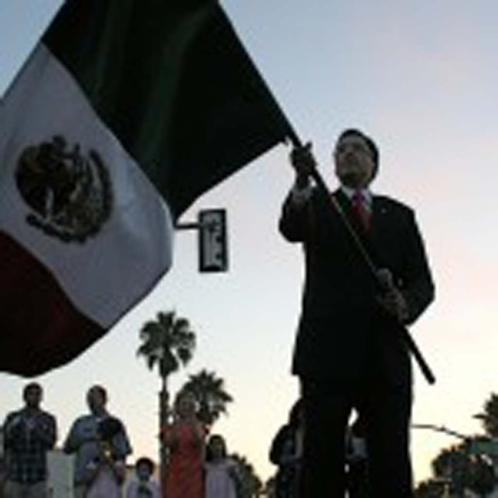 Consulate of Mexico Victor Corzo leads El Grito. Mexico celebrates its Independence Day Sept. 16. Photo by Promise Yee