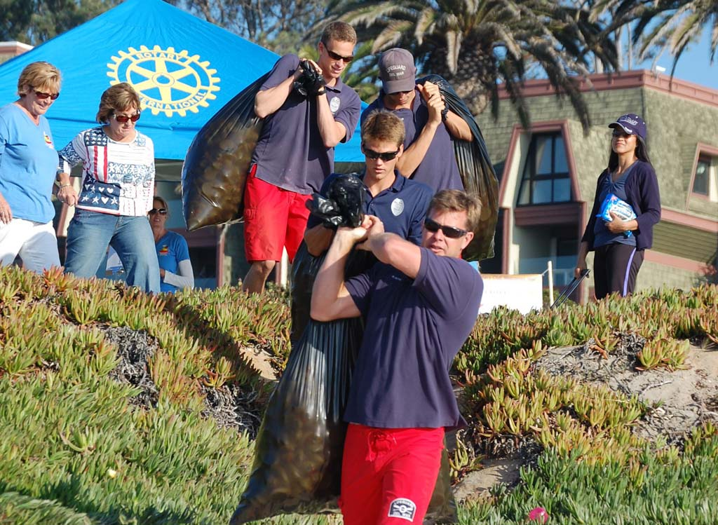 Del Mar lifeguards prepared to head out and dump the ducks during the 2011 Chili & Quackers Challenge. Photo by Bianca Kaplanek